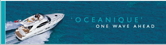 The oceanique powerboat, available for charter